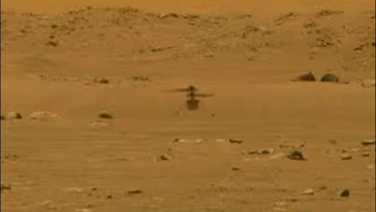 Ingenuity becomes first-ever craft to fly on Mars