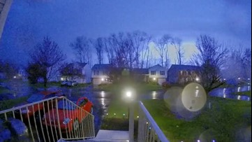 Frequent lightning flashes over Pennsylvania