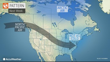 Harsh cold to ease over central, eastern U.S. next week