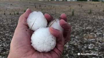 You definitely don't want to get hit with one of these hailstones