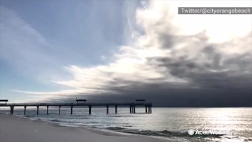 Maybe not the best time to take a dip at the beach