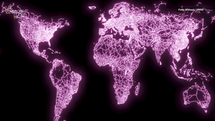 Incredible Maps Light Up the Urban Areas of Our World