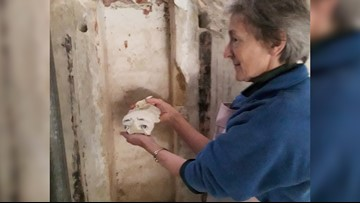 Statue Hidden in Church's Wall for 400 Years Discovered