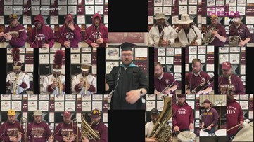 Teacher plays 22 instruments in 'Pomp and Circumstance' video tribute