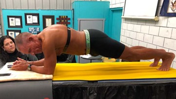 62-year-old retired US Marine broke 8-hour plank record