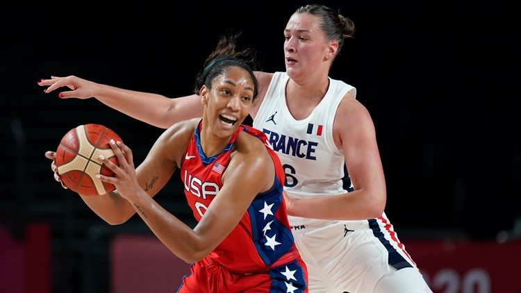 Wilson leads US women's basketball to quarterfinals with 93-82 win over France