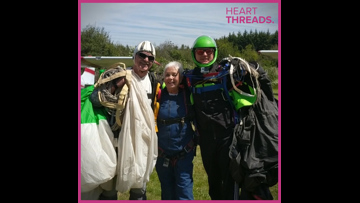 Grandma goes skydiving to help veterans