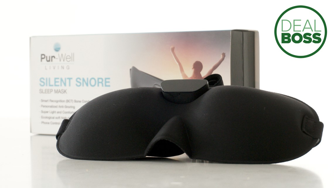 This smart sleep mask can put an end to snoring