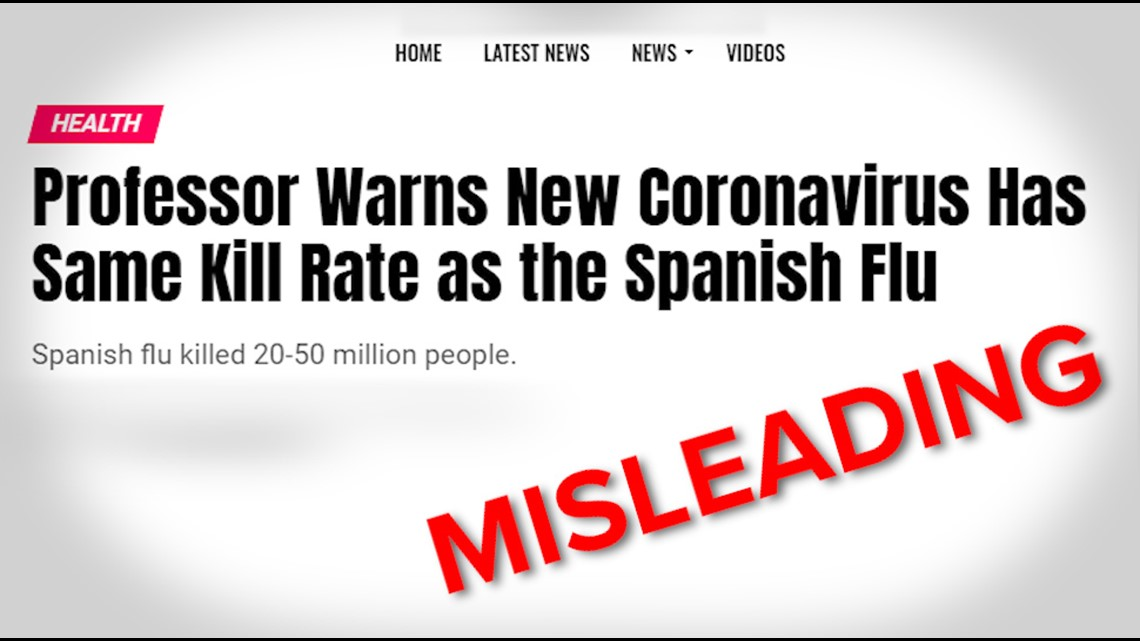 VERIFY: Headlines comparing the coronavirus to Spanish flu are missing context