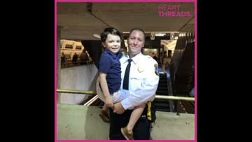 Transit officer comforts child with autism