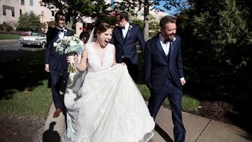 Childhood cancer survivors reunite, marry at hospital that saved their lives