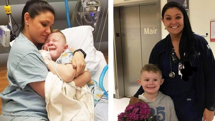 'Will you snuggle with me?' | Nurse holds boy crying after surgery