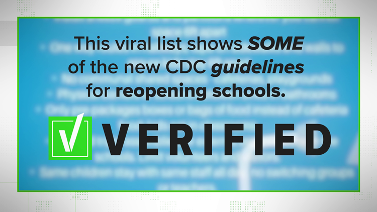 """VERIFY: Viral post about """"New CDC guidelines"""" oversimplifies real CDC information."""