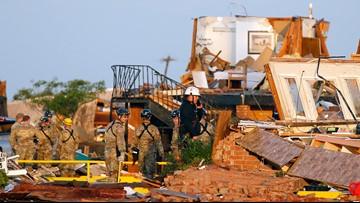 Tornadoes hit 2 Oklahoma cities, killing 2 and injuring 29