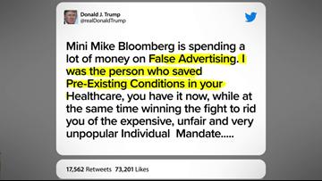 VERIFY: Trump's false claim that he 'saved' pre-existing conditions