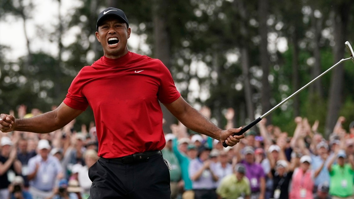 PHOTOS: Tiger Woods celebrates 5th Masters win