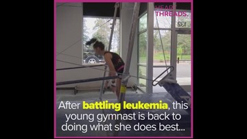 After beating leukemia, gymnast inspires by competing
