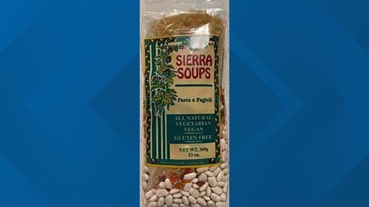 Sierra Soups issues 'Pasta e Fagioli' recall over gluten concerns