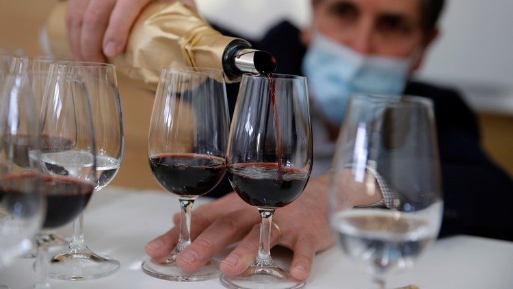 Tasters savor fine wine that orbited earth aboard International Space Station