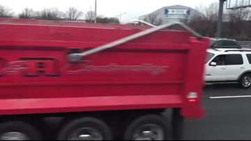 Brinks truck accident on Route 3 'makes it rain' on the highway