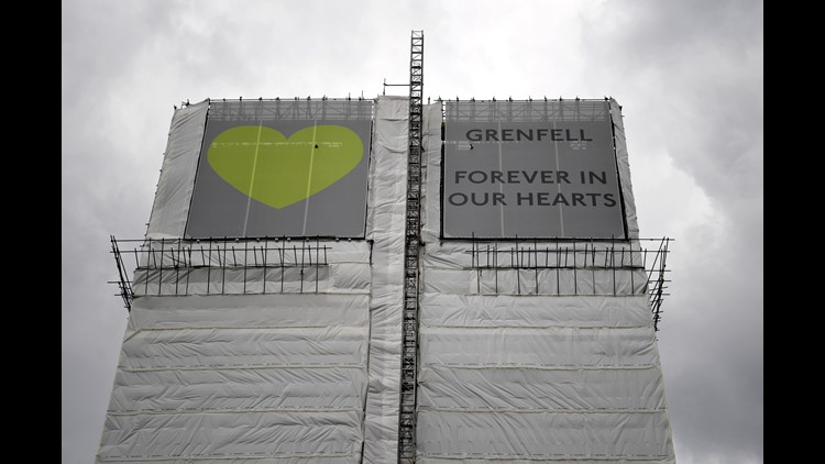 EPA BRITAIN GRENFELL TOWER FIRE ANNIVERSARY DIS FIRE ACCIDENTS (GENERAL) GBR EN
