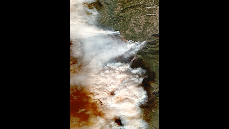 01 Overview Of Camp Fire Paradise California 9nov2018 Digitalglobe Wv3