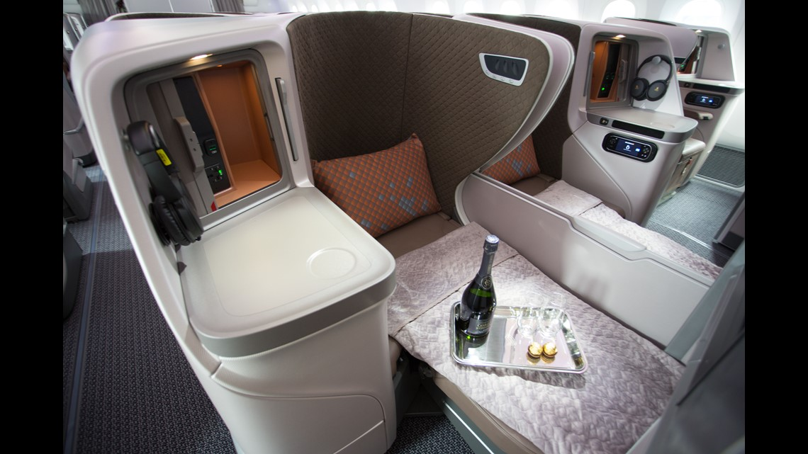 Singapore Airlines' new cabin interior for Boeing 787-10 'Dreamliner