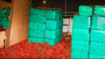 California officials seize 7.5k pounds of marijuana and also jalapeño peppers apparently