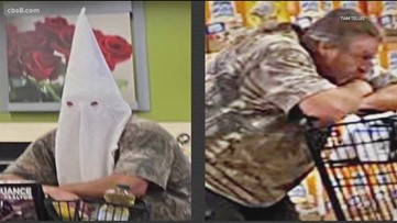 Photos of man wearing KKK hood at California grocery store circulate on social media