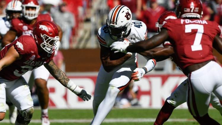 Auburn and the refs spoil Hogs homecoming in Fayetteville