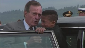 Boy who met Bush in 1990 at PDX inspired to become pilot