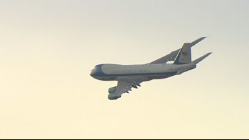 WATCH: 'Special Air Mission 41' flies over George H.W. Bush Presidential Library