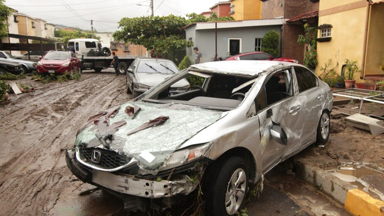 Reports: At least 14 dead after tropical storm hits El Salvador; storm's remnants entering Gulf of Mexico