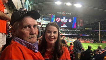 Granddaughter surprises her 'Paw-Paw' with tickets to the World Series