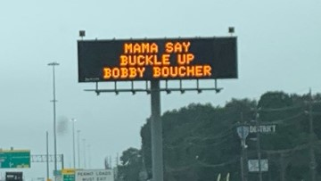 'Mama say buckle up': highway sign channels 'The Waterboy' to tell drivers to be safe