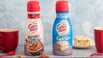 Coffee-Mate reveals 'Cinnamon Toast Crunch' and 'Funfetti' creamers