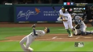 Watch: Houston Astros pitcher dodges baseball like 'The Matrix'
