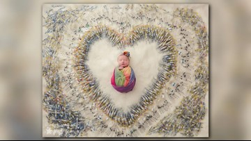 Photo of baby surrounded by IVF needles gives families hope