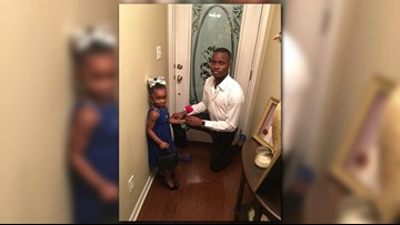 Girl shown 'how a man is supposed to be' with father-daughter V-Day date