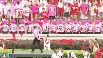 REMEMBER WENDY | Georgia Bulldogs honor Wendy Anderson during A-State game
