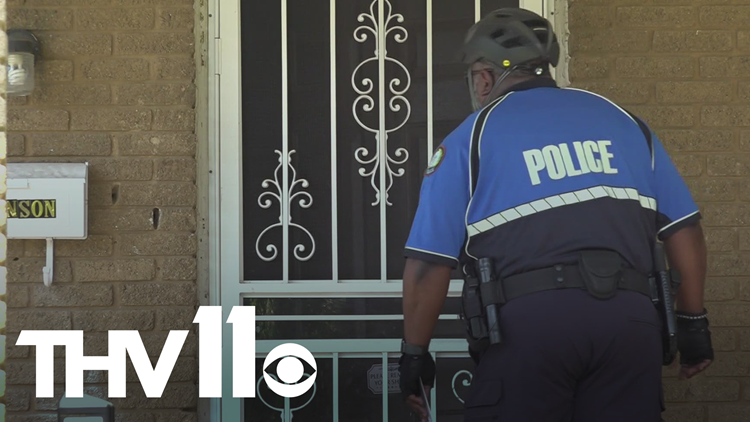 Little Rock police go door-to-door to talk violent crime