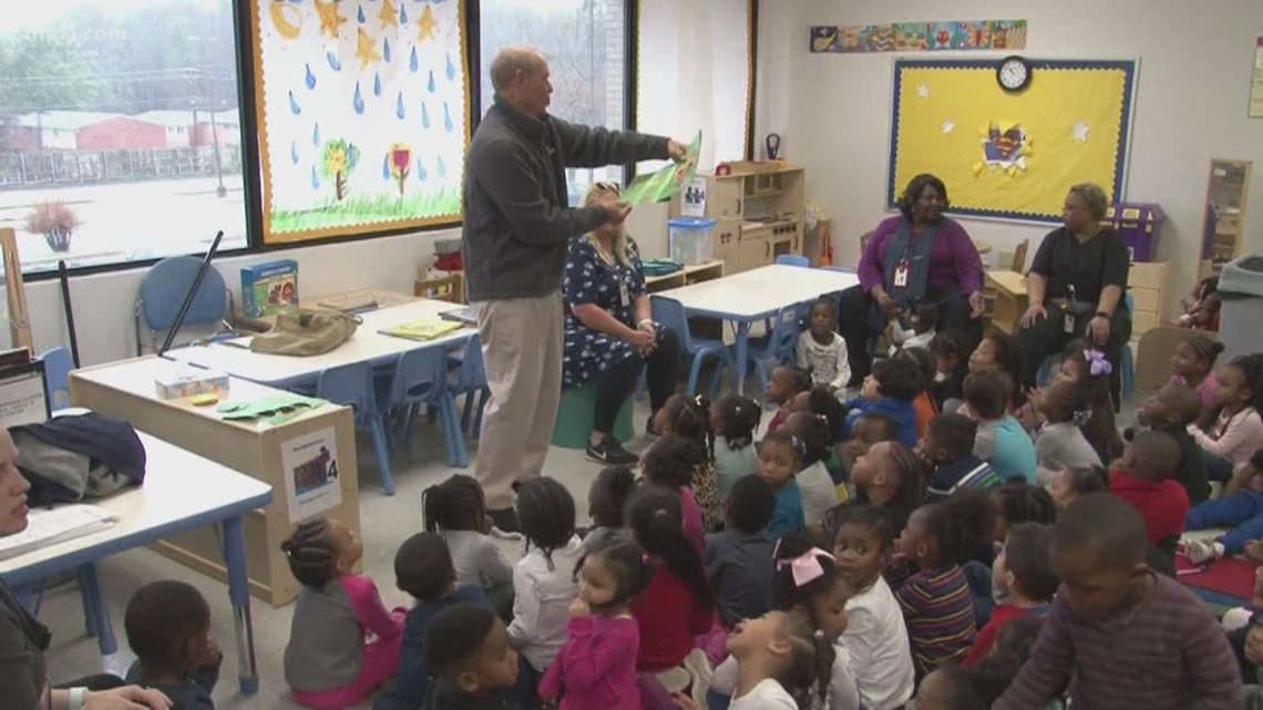 'Read another one!'   Pinewood and PTC Daycare kids love books