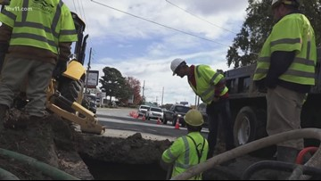 Central Arkansas Water works to fix water main break on Cantrell