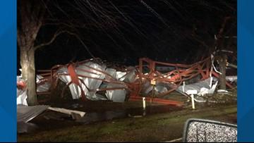 Confirmed EF-1 tornado causes damage in Lonoke County