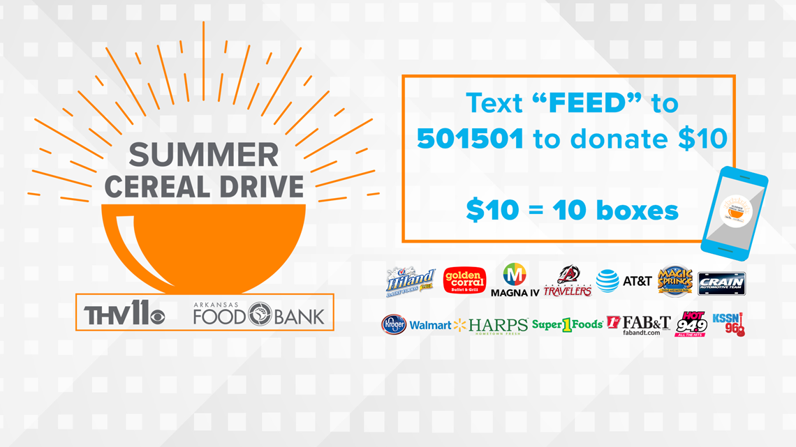 Everything you need to know about 2019 THV11 Summer Cereal Drive