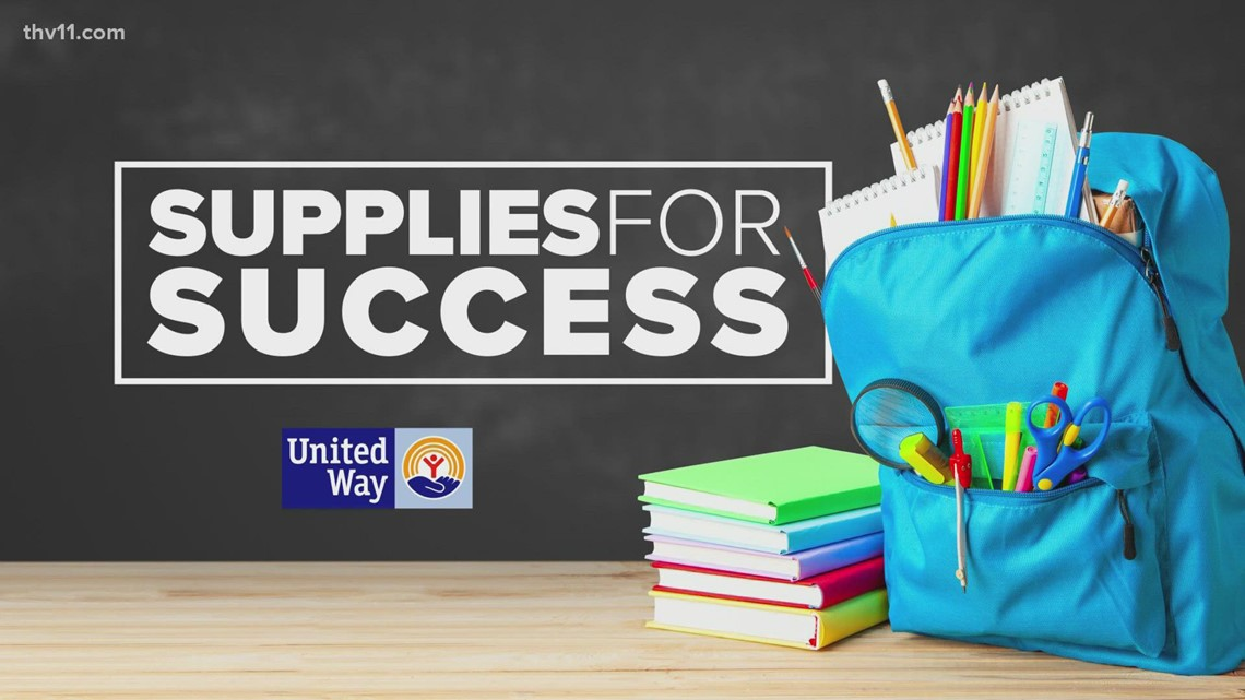 The United Way teams up with THV11 and Kroger to collect school supplies for PCSSD, LRSD and NLRSD