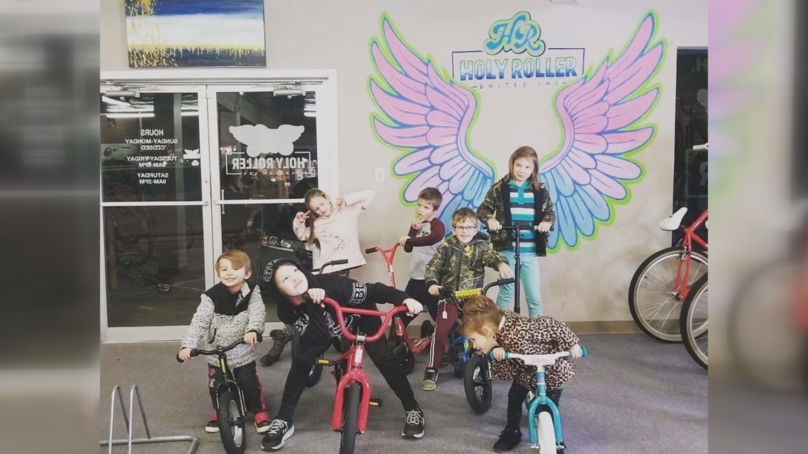 Benton man uses cycle shop to give bikes to children in need