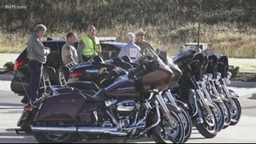 Bikers ride in parade to support veterans