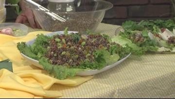 Debbie Arnold shows us how to make quinoa and edamame salad
