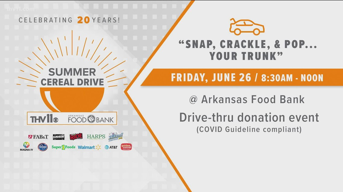 How you can help donate for THV11 Food Cereal Drive